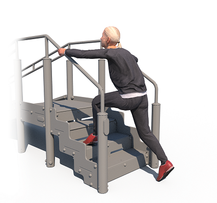 High Lunges Stairs