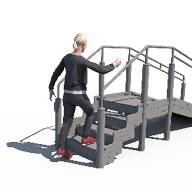 Walking Without Support Stairs