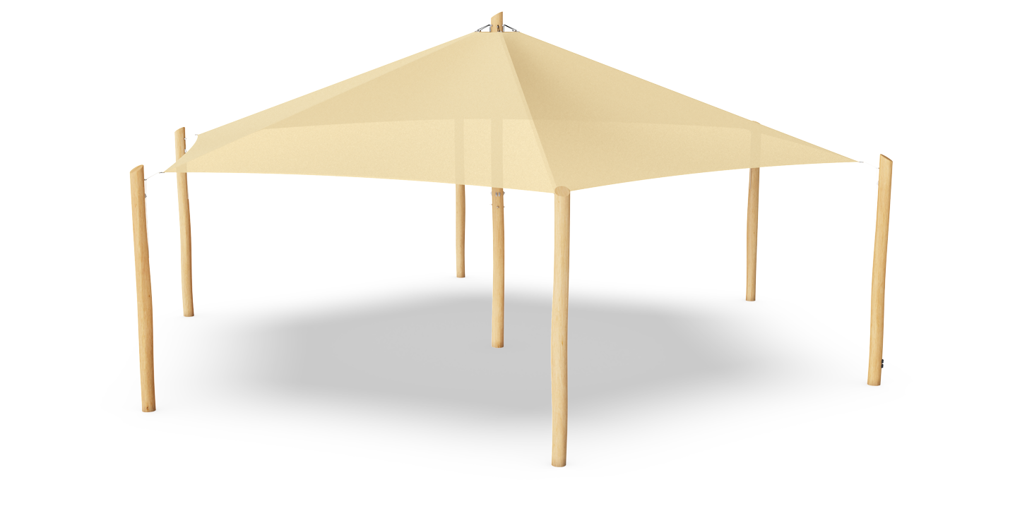 Cottage Sunshade with posts