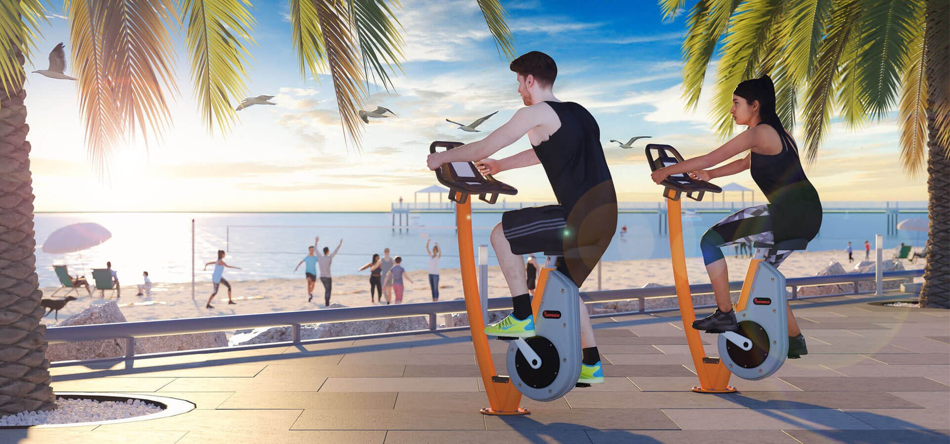 NEW Fitness Bike by KOMPAN
