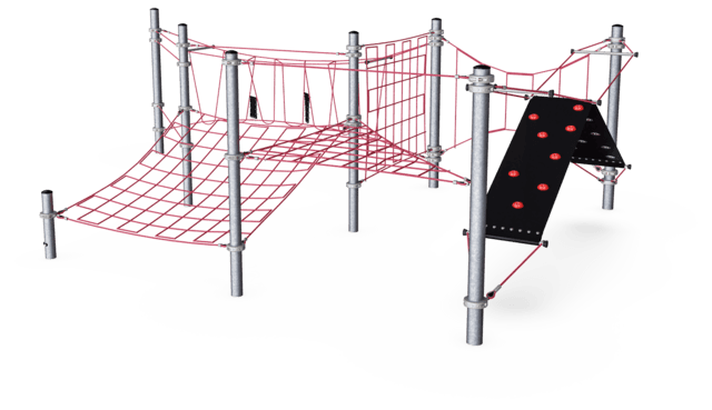 Play Package 9/3 - Climbing Large Net and Rope Parkour elements