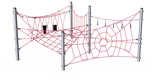 Play Package 11/4 - Compact Rope Playground