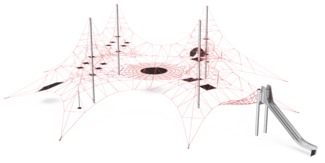 Four-mast Spacenet, Net & Slide