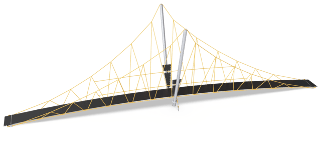 Small Suspension Bridge, 14m