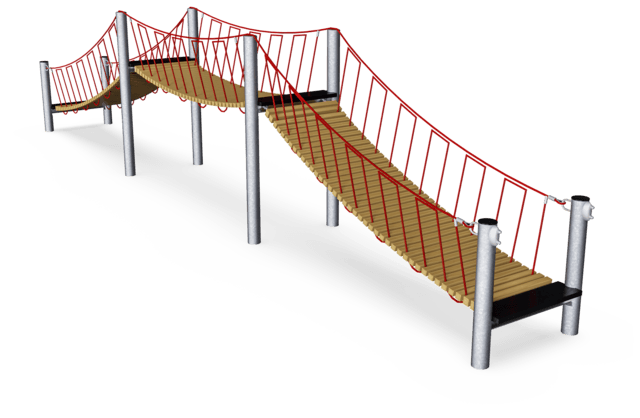 Bridge with Wooden Slats, 12 m