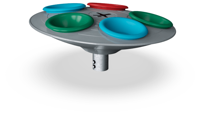 Multi-Spinner - Blue, Red, Green
