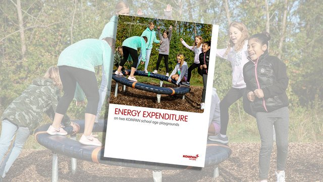 Energy expenditure on a KOMPAN school age playground