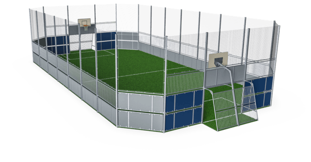 MUGA, 12x24m, High 5m, Plate Design