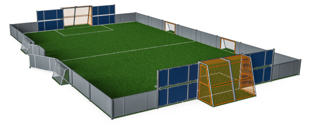 MUGA, 14x23 meter, Low 1m, Plate Design