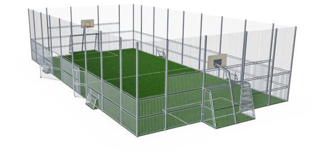 MUGA, 12x24 meter, High 5m, Steel