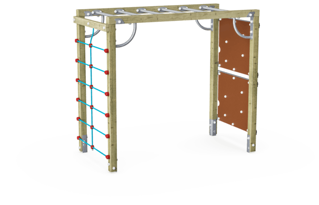 Climbing Structure with Climbing Wall