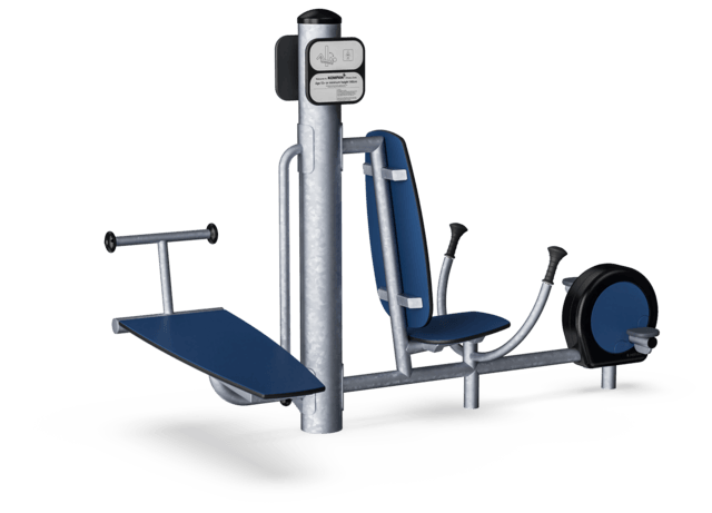 Sit-up Bank + Power-Fahrrad