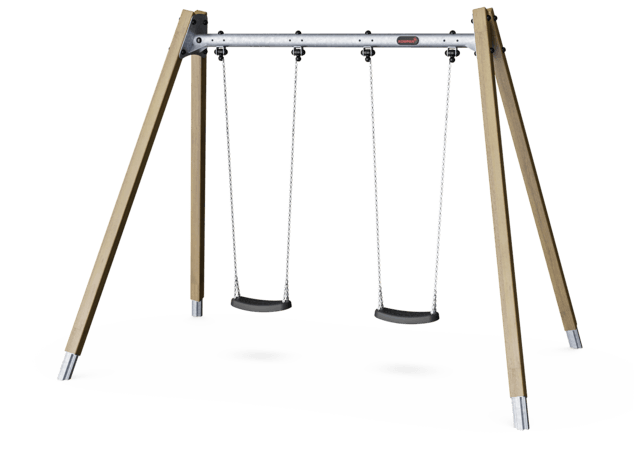 Double Swing H2.5m, Std. Seats, Hardwood