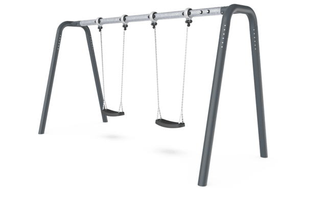 Portal swing height 2,0 meters. Anthracite legs & connector. Galvanized crossbeam. Antiwrap