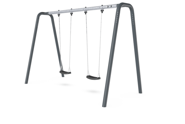 Portal swing height 2,5 meters. Anthracite legs & connector. Galvanized crossbeam