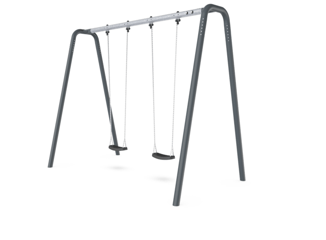 Portal swing height 3,0 meters. Anthracite legs & connector. Galvanized crossbeam.