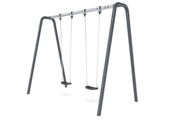 Portal swing height 3,0 meters. Anthracite legs & connector. Galvanized crossbeam. Antiwrap