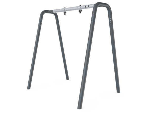 Portal swing 1 seat Anthracite legs and connector. Galvanized crossbeam
