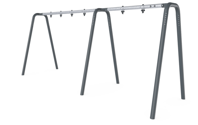 Portal swing 3 seat Anthracite legs and connector. Galvanized crossbeam