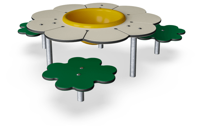Daisy Desk with Clover Patch Under 2