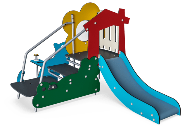 Toddlers Castle Steel Slide