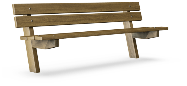 Avenue bench with backrest