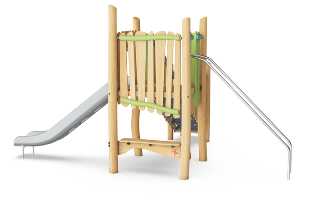 Play tower with slide & banister bars