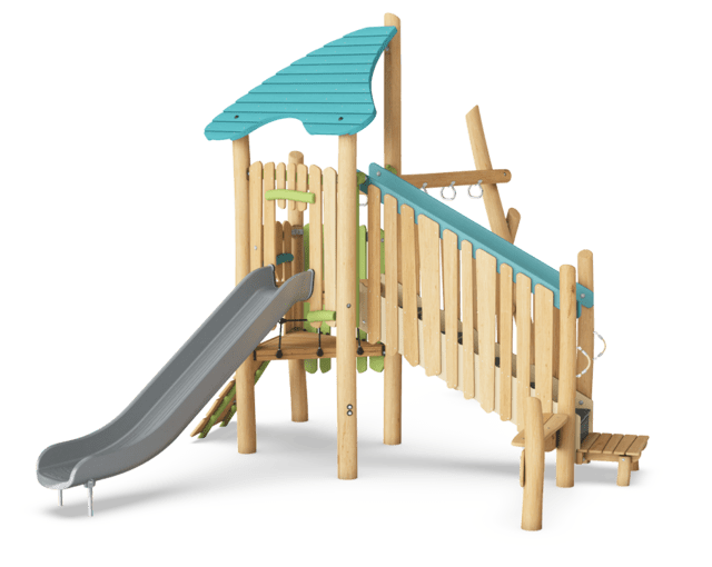 Multi Deck Play Tower with Monkey Bars