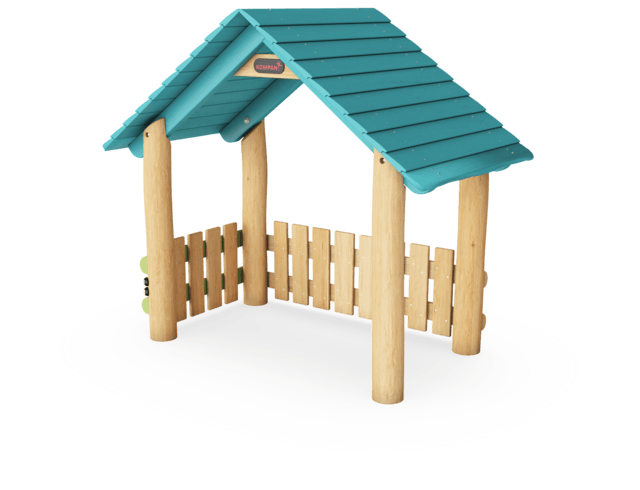 PLAYHUT WITH SIDE & GABLE