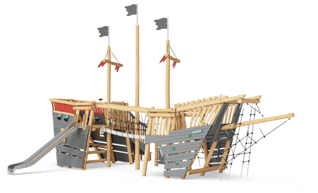Pirate ship, Large