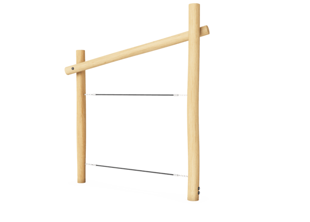 Robinia : Le pont filet
