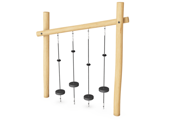 Robinia obstacle element - balanceerschijven