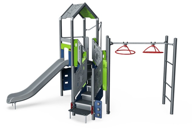 Double Tower with Turbo Challenge, Physical, Plastic Slide ADA