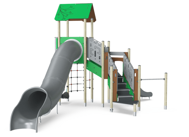 Double Tower with Net, Slide