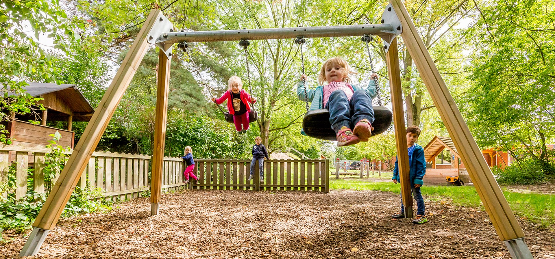 Swings The Popular Choice For Any Playground Setting Kompan