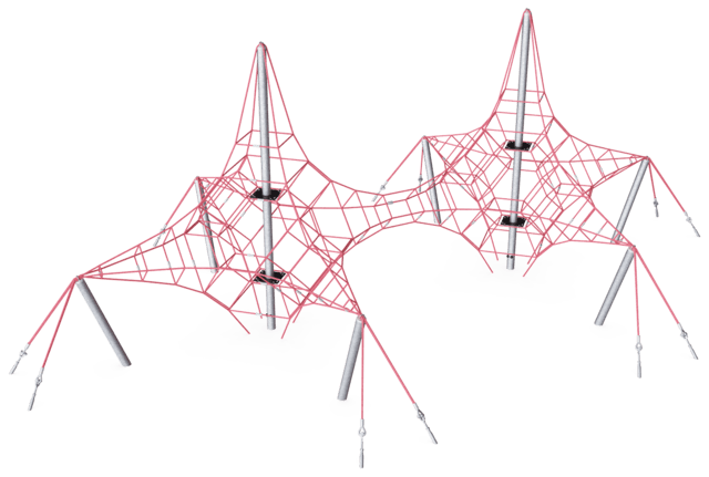 Two-masted Octa Net, 3.9m high