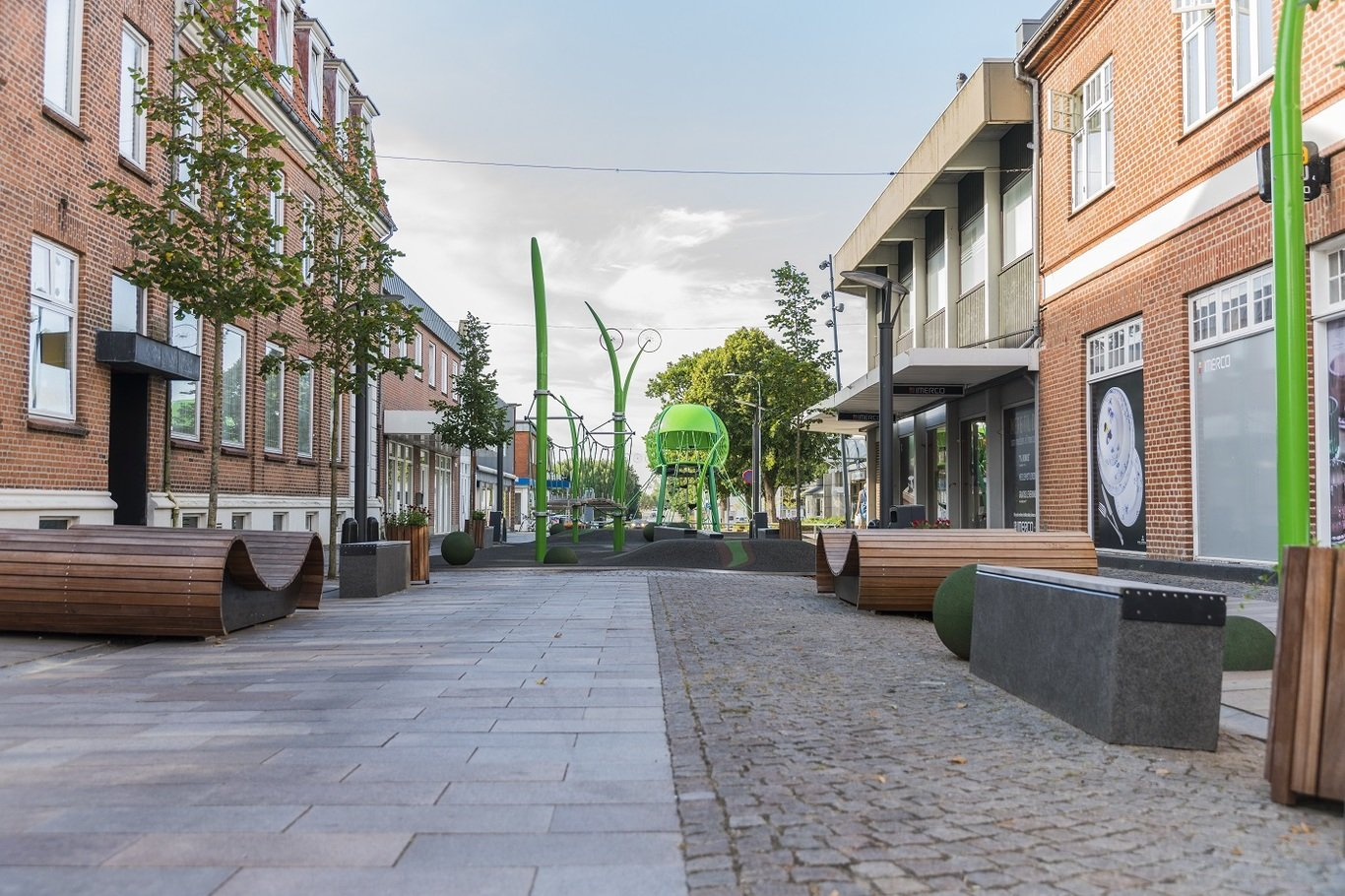 New city centre in Grindsted