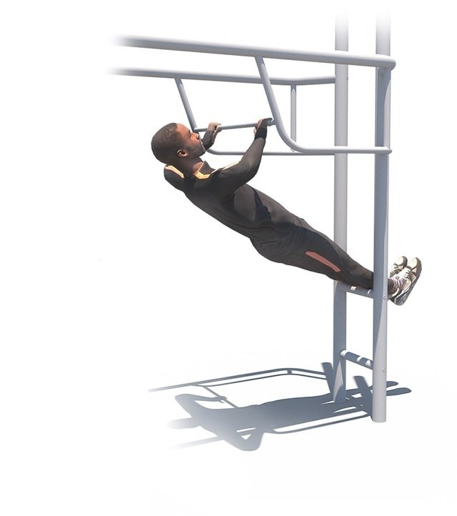 Incline Pull Up Bar