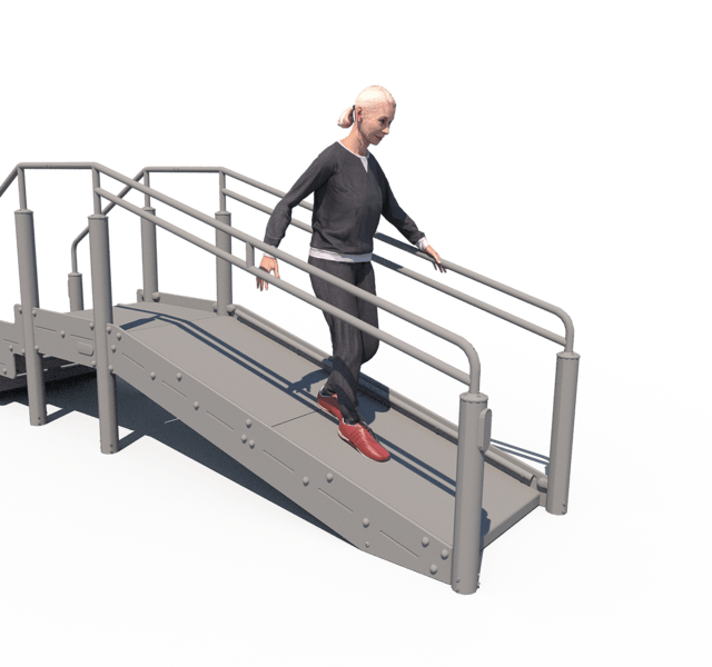 Walking With Support Ramp