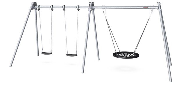 Combi Swing H:2.5m, 100cm Rope Seat, Anti-wrap