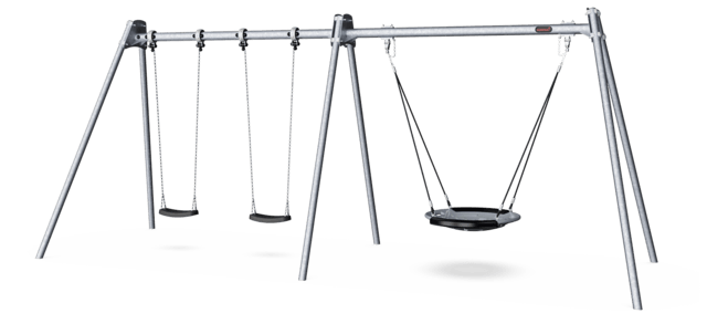 Combi Swing H:2.5m, 100cm Shell Seat, Anti-wrap