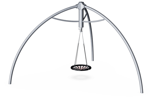 Giant 360 swing with nest