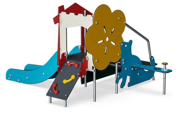 Toddlers Castle with Rock Climber