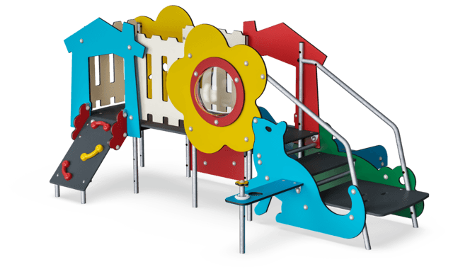 Castello toddler con due torri