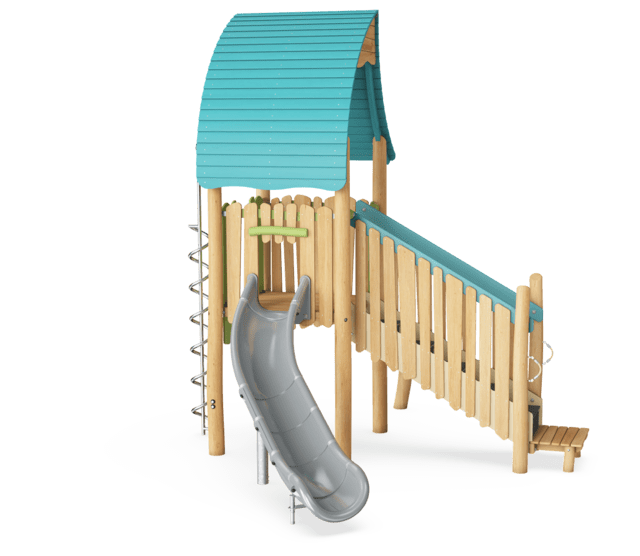 Play Tower with Slide & Curly Climber