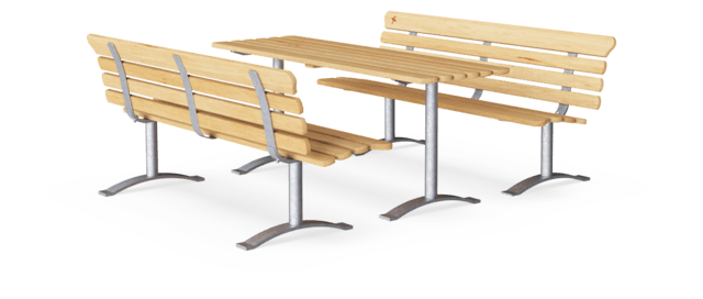 Park Table with 2 Benches