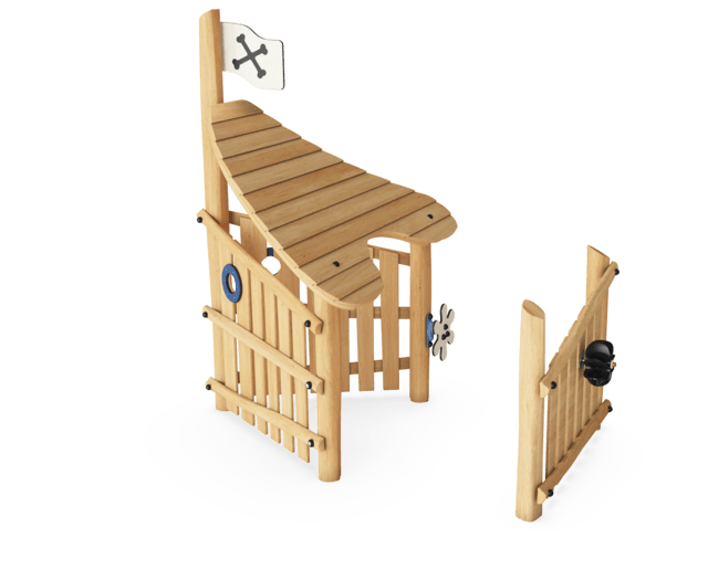 Playhouse with Roof & Wall