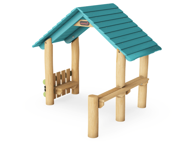 Playhut with side & desks