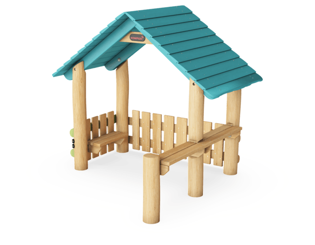 Playhut with Two Sides & Desks