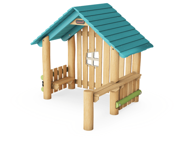 Playhut with side, gable & desks